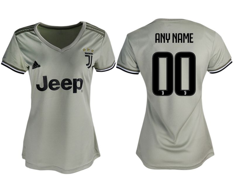 Women 2018-2019 club Juventus away aaa version customized white soccer jerseys
