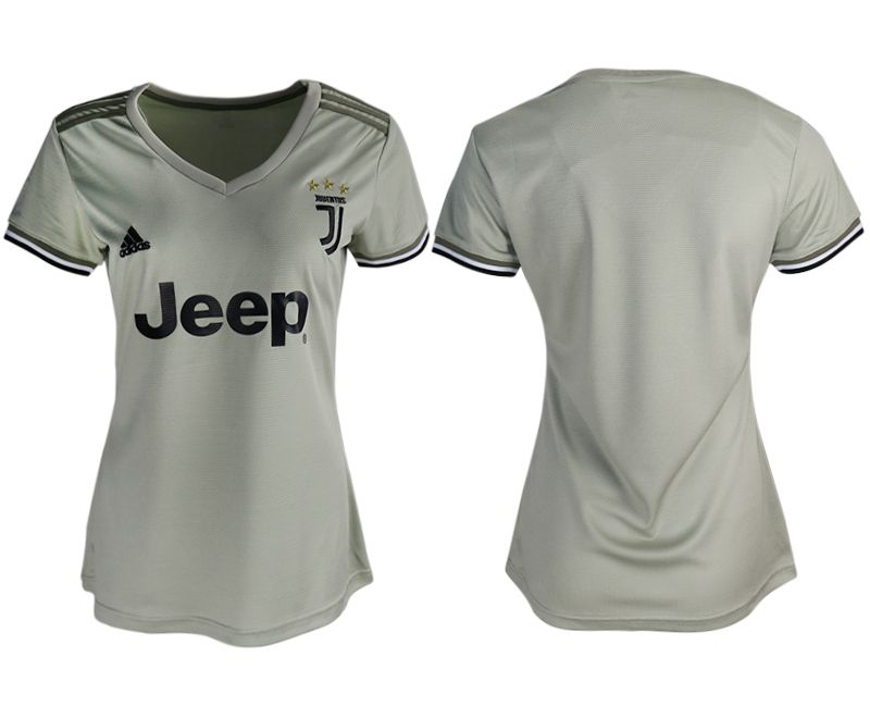 Women 2018-2019 club Juventus away aaa version white soccer jerseys