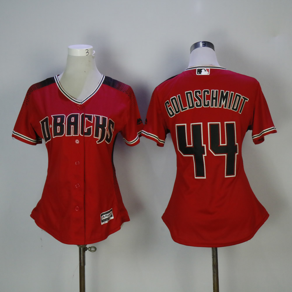 Women Arizona Diamondback 44 Goldschmidt Red MLB Jerseys