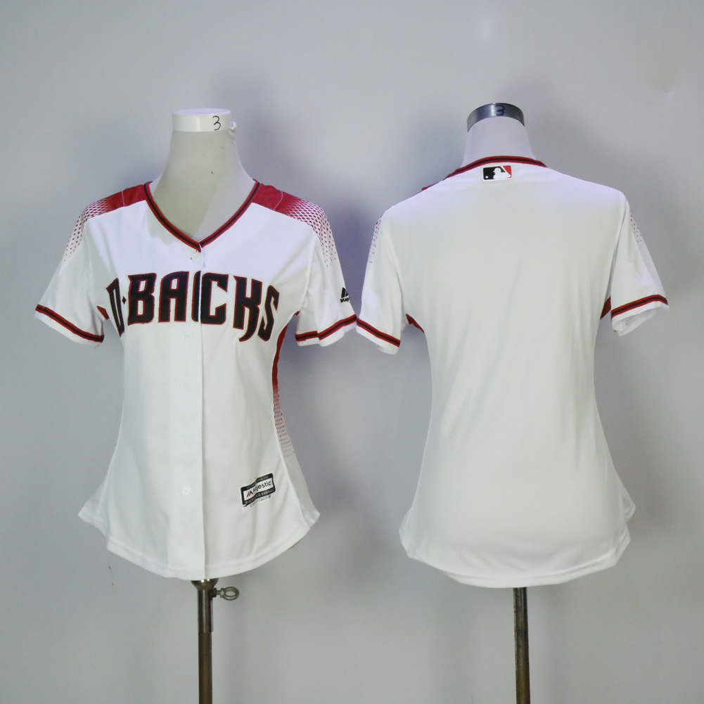 Women Arizona Diamondback Blank White MLB Jerseys
