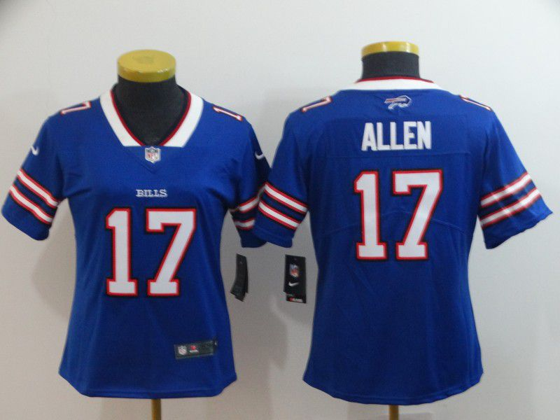 Women Buffalo Bills 17 Allen Blue Nike Vapor Untouchable Limited Playe NFL Jerseys