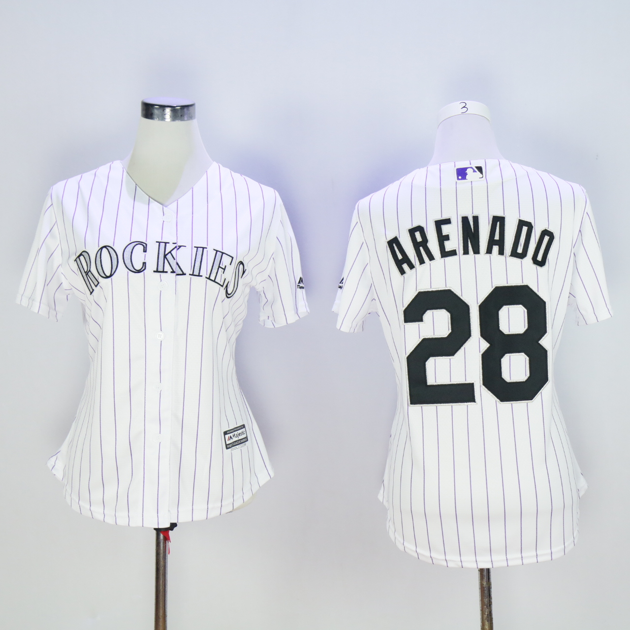 Women Colorado Rockies 28 Arenado White MLB Jerseys