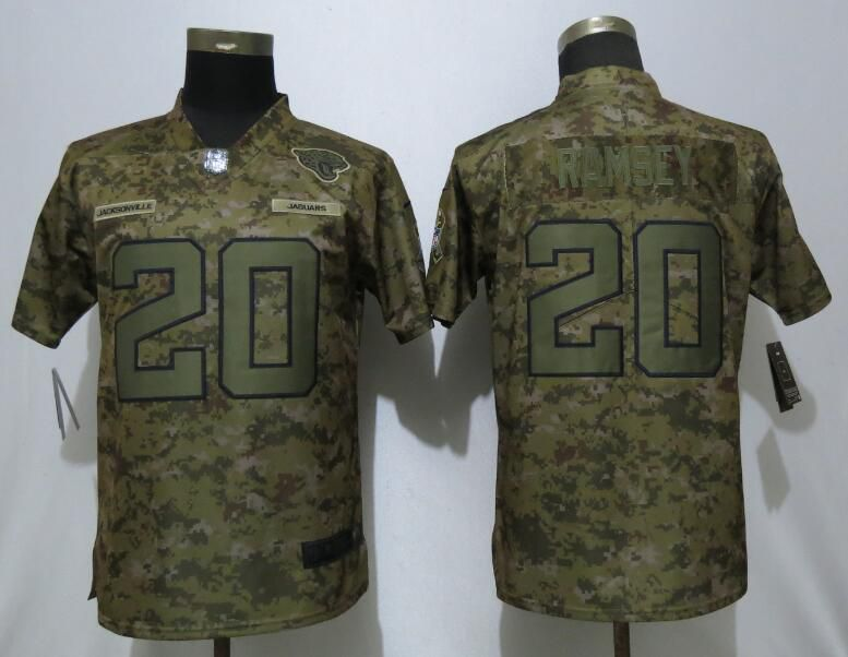 Women Jacksonville Jaguars 20 Ramsey Nike Camo Salute to Service Limited NFL Jersey