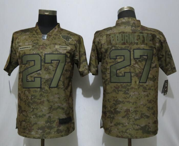 Women Jacksonville Jaguars 27 Fournette Nike Camo Salute to Service Limited NFL Jersey
