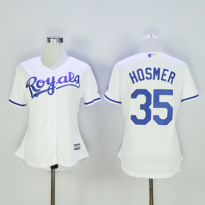 Women Kansas City Royals 35 Hosmer White MLB Jerseys