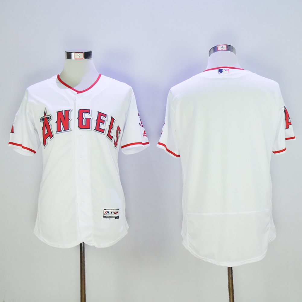 Women Los Angeles Angels Blank White MLB Jerseys