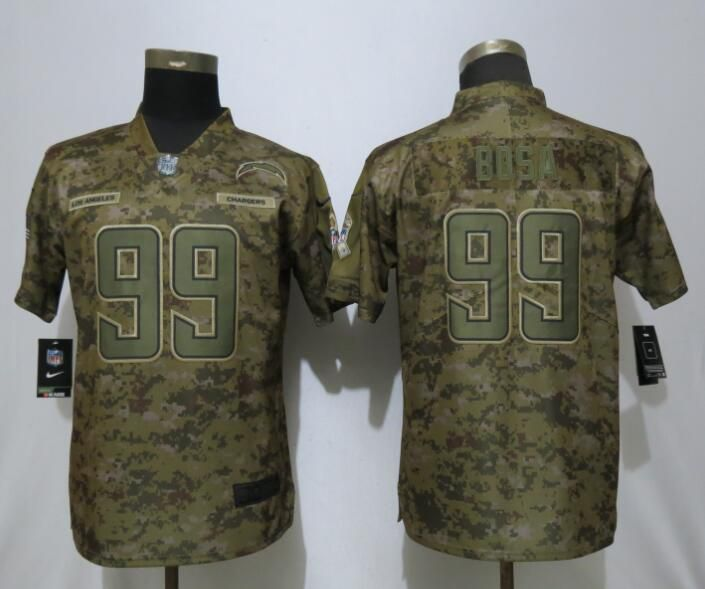 Women Los Angeles Chargers 99 Bosa Nike Camo Salute to Service Limited NFL Jersey