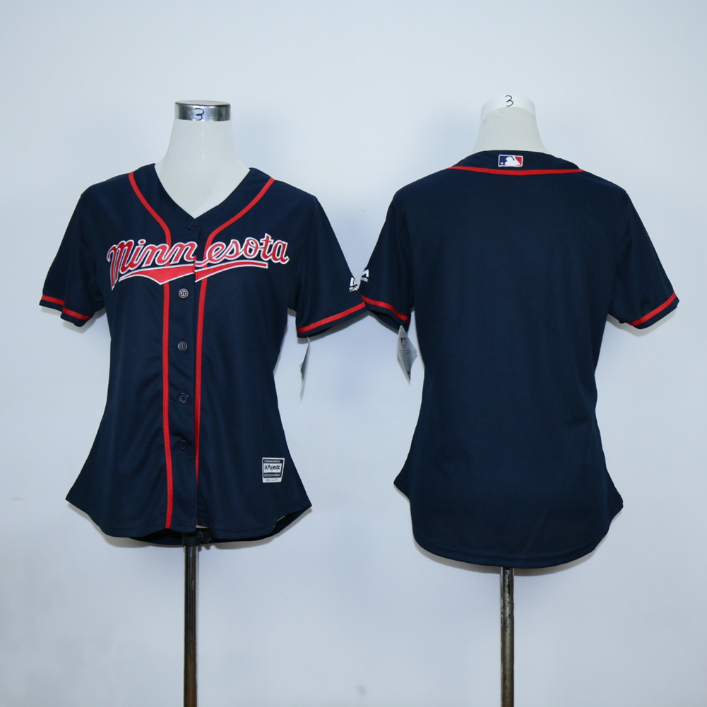 Women Minnesota Twins Blank Blue MLB Jerseys