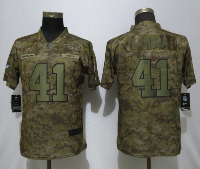 Women New Orleans Saints 41 Kamara Nike Camo Salute to Service Limited NFL Jerseys