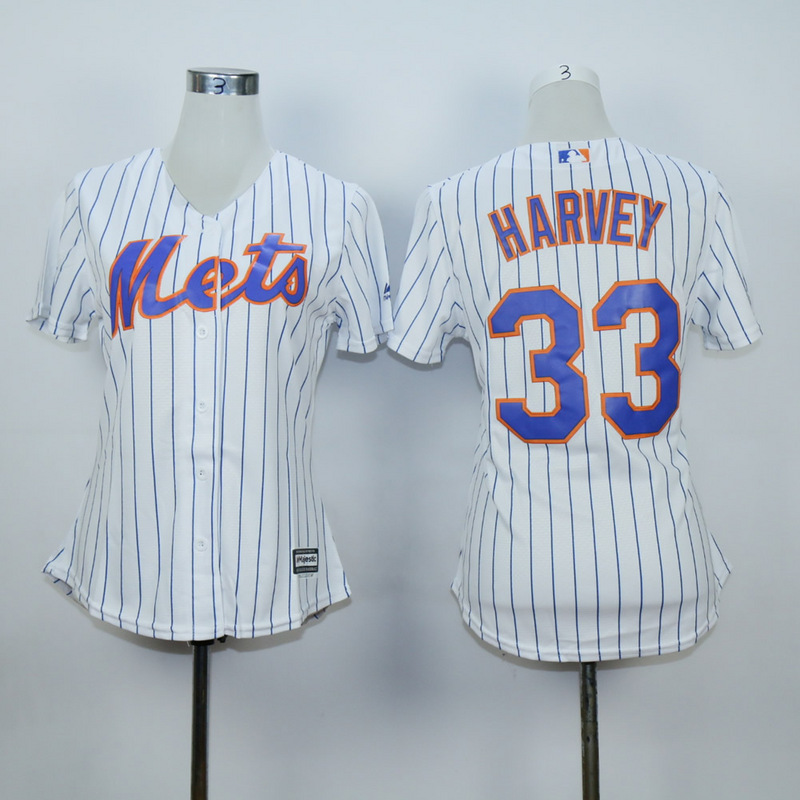 Women New York Mets 33 Harvey White MLB Jerseys