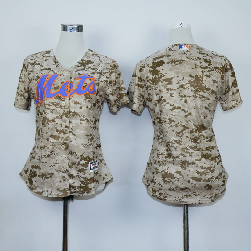 Women New York Mets Blank Camo MLB Jerseys