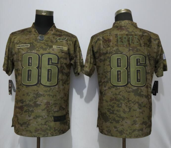 Women Philadelphia Eagles 86 Ertz Nike Camo Salute to Service Limited NFL Jerseys