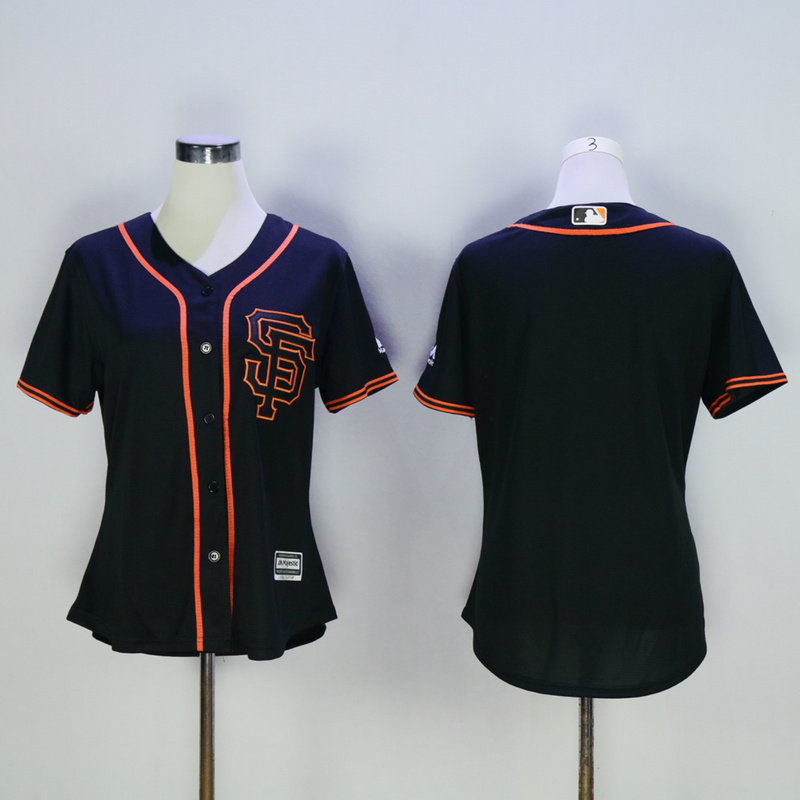 Women San Francisco Giants Blank Black MLB Jerseys