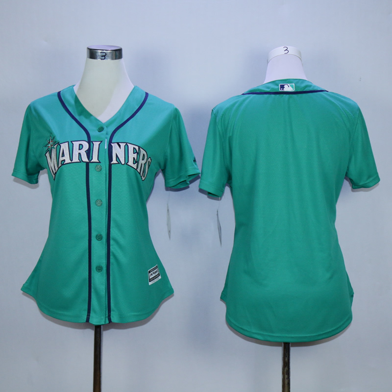 Women Seattle Mariners Blank Green MLB Jerseys