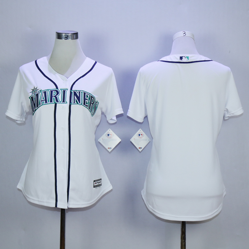 Women Seattle Mariners Blank White MLB Jerseys
