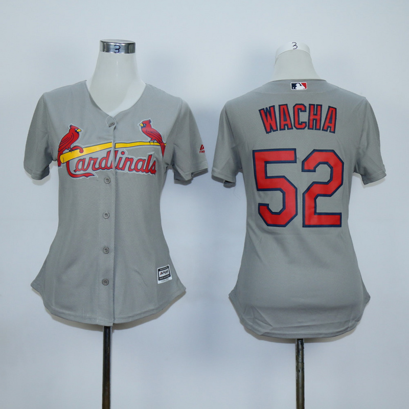 Women St. Louis Cardinals 52 Wacha Grey MLB Jerseys