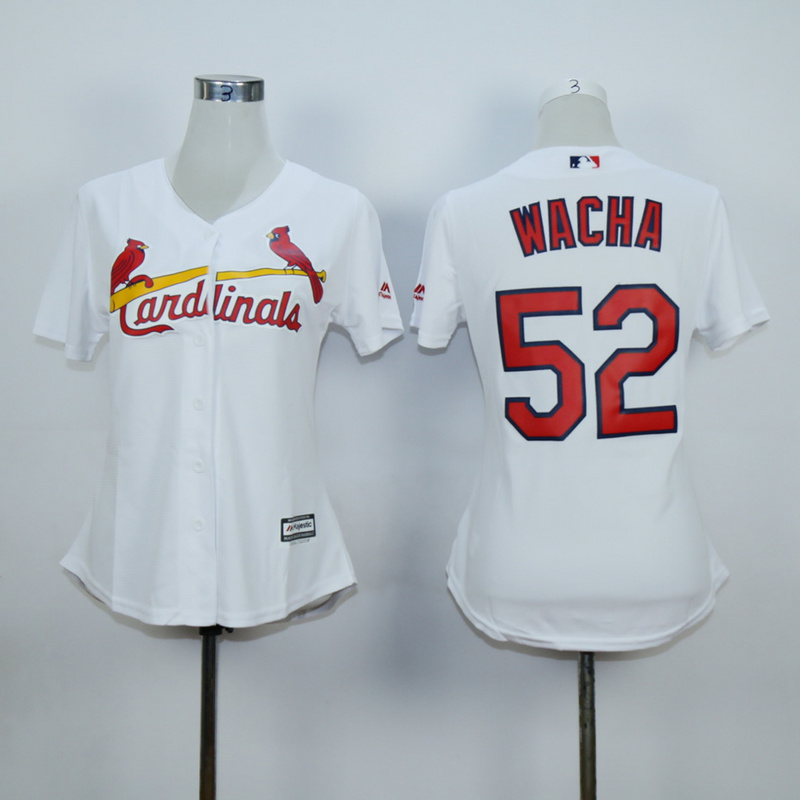 Women St. Louis Cardinals 52 Wacha White MLB Jerseys
