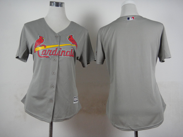 Women St. Louis Cardinals Blank Grey MLB Jerseys