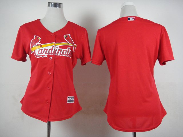 Women St. Louis Cardinals Blank Red MLB Jerseys