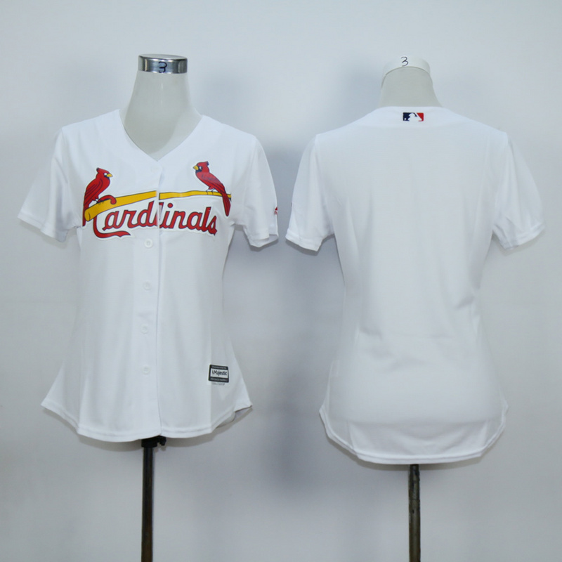 Women St. Louis Cardinals Blank White MLB Jerseys