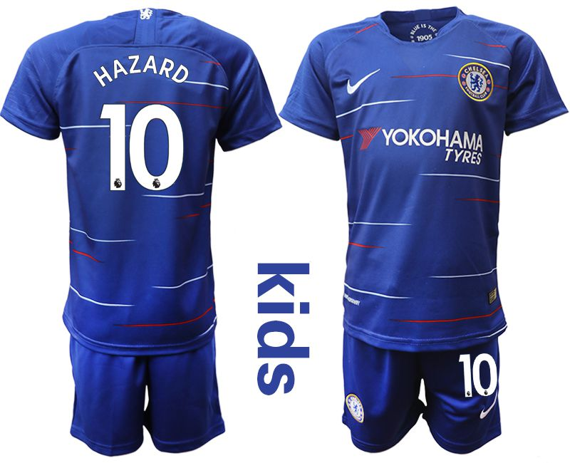 Youth 2018-2019 club Chelsea home 10 blue soccer jersey