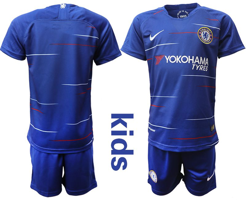 Youth 2018-2019 club Chelsea home blue soccer jersey
