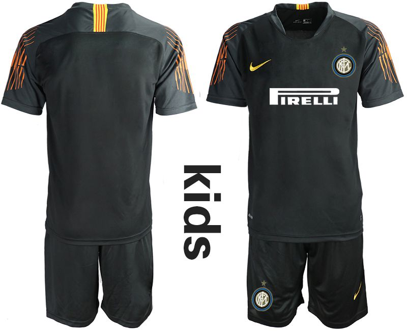 Youth 2018-2019 club Inter Milan black goalkeeper Soccer Jerseys