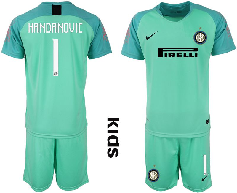 Youth 2018-2019 club Inter Milan green goalkeeper 1 Soccer Jerseys