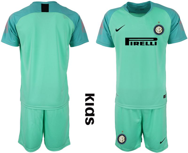 Youth 2018-2019 club Inter Milan green goalkeeper Soccer Jerseys
