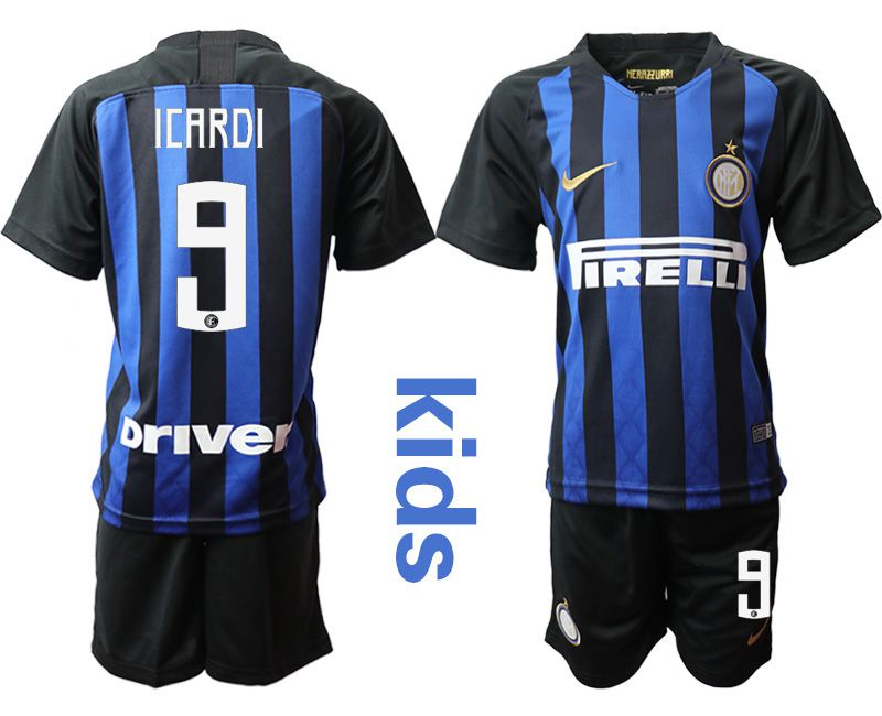 Youth 2018-2019 club Inter milan home 9 blue Soccer Jerseys