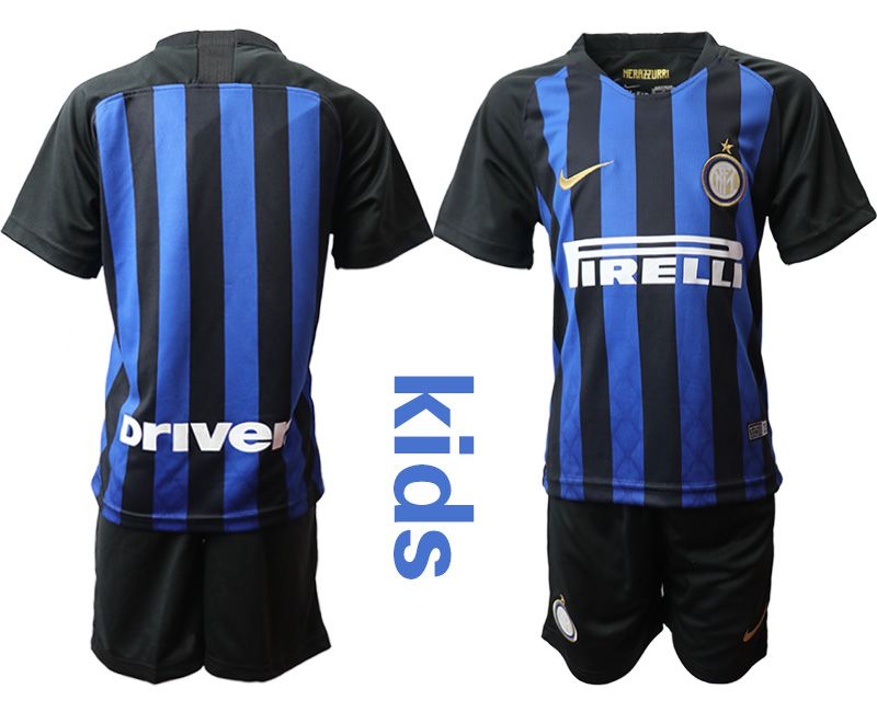 Youth 2018-2019 club Inter milan home blue Soccer Jerseys