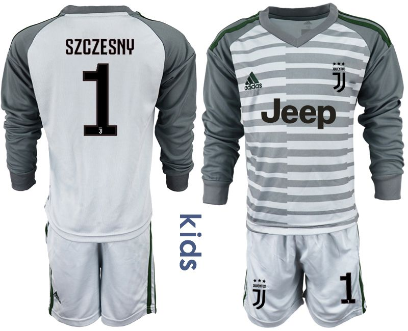 Youth 2018-2019 club Juventus gray long sleeve goalkeeper 1 soccer jersey1