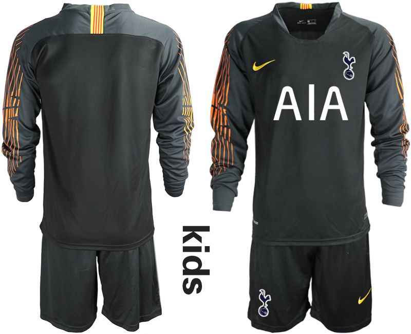 Youth 2018-2019 club Tottenham Hotspur Football Club black long sleeve goalkeeper Soccer Jerseys