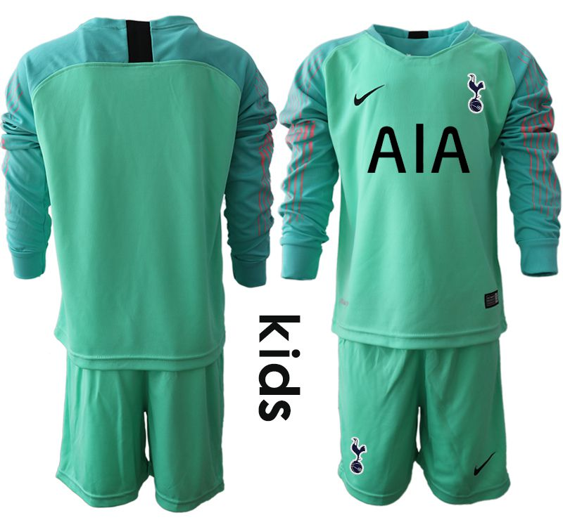 Youth 2018-2019 club Tottenham Hotspur Football Club green goalkeeper long sleeve Soccer Jerseys