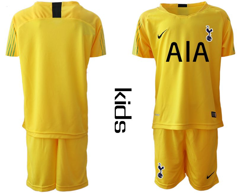 Youth 2018-2019 club Tottenham Hotspur Football Club yellow goalkeeper Soccer Jerseys