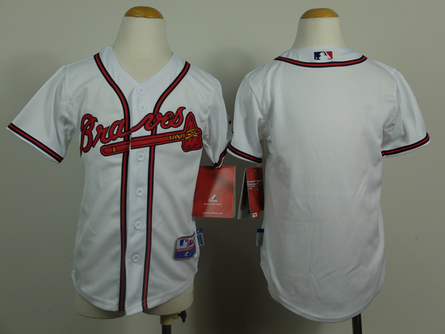 Youth Atlanta Braves Blank White MLB Jerseys