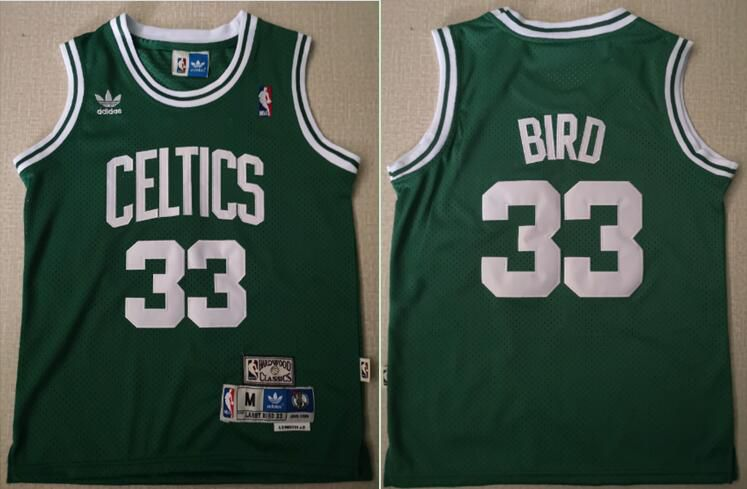 Youth Boston Celtics 33 Bird Green Game Nike NBA Jerseys