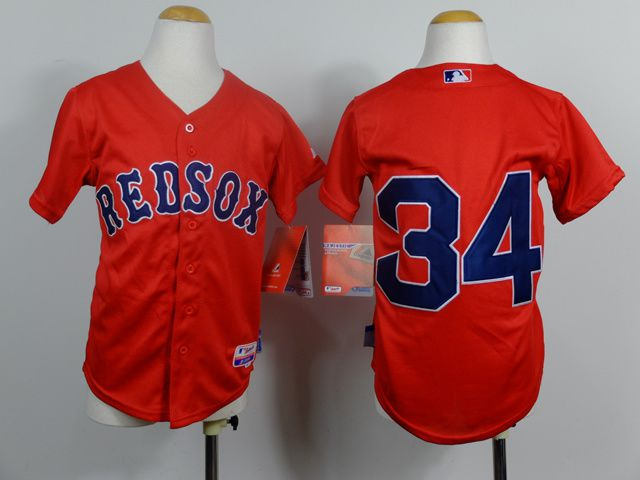 Youth Boston Red Sox 34 Ortiz Red MLB Jerseys