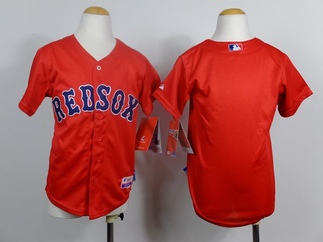 Youth Boston Red Sox Blank Red MLB Jerseys