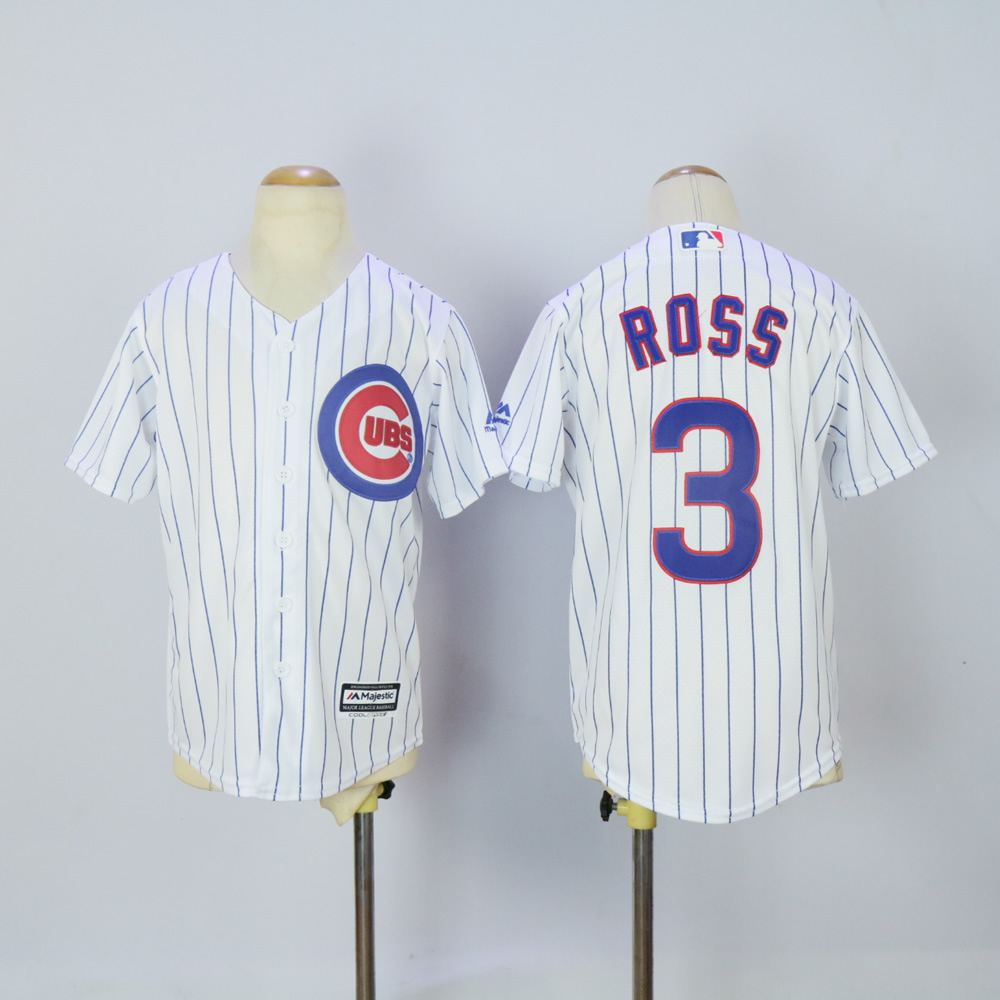 Youth Chicago Cubs 3 Ross White MLB Jerseys