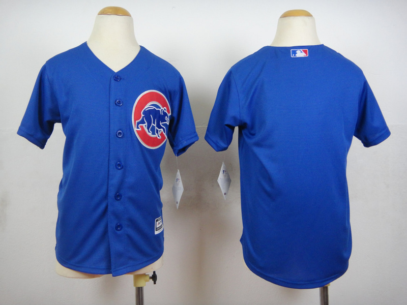 Youth Chicago Cubs Blank Blue MLB Jerseys