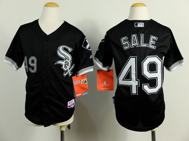 Youth Chicago White Sox 49 Sale Black MLB Jerseys