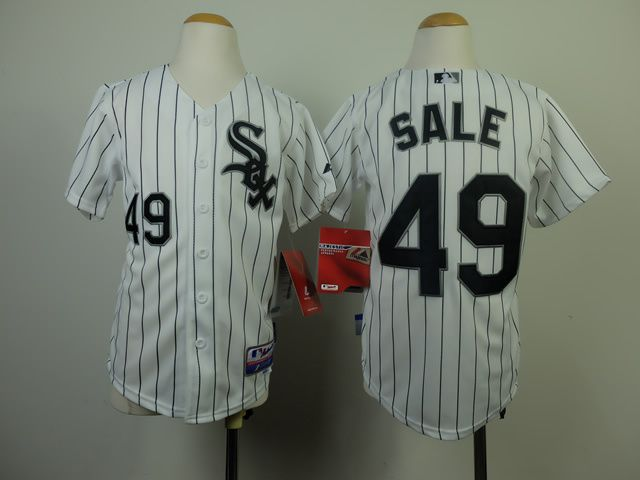 Youth Chicago White Sox 49 Sale White MLB Jerseys