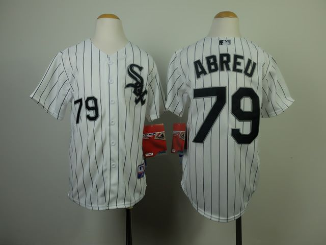 Youth Chicago White Sox 79 Abreu White MLB Jerseys