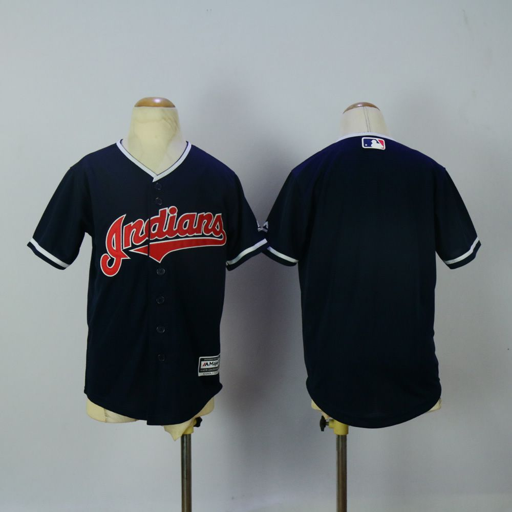 Youth Cleveland Indians Blank Blue MLB Jerseys