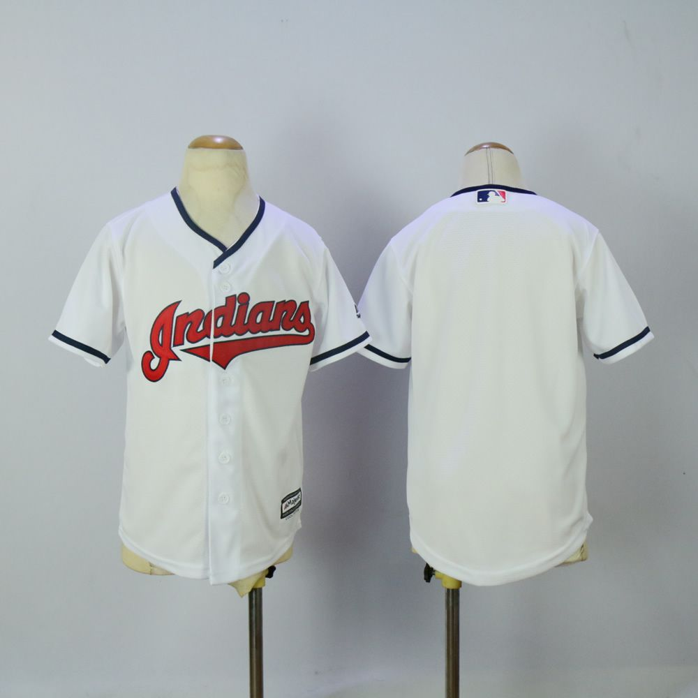 Youth Cleveland Indians Blank White MLB Jerseys