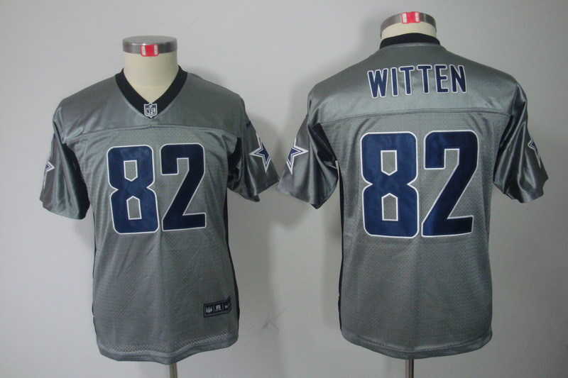 Youth Dallas cowboys 82 Witten grey Nike NFL Jerseys