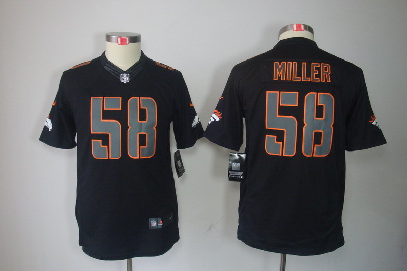 Youth Denver Broncos 58 Miller black NFL Nike jerseys