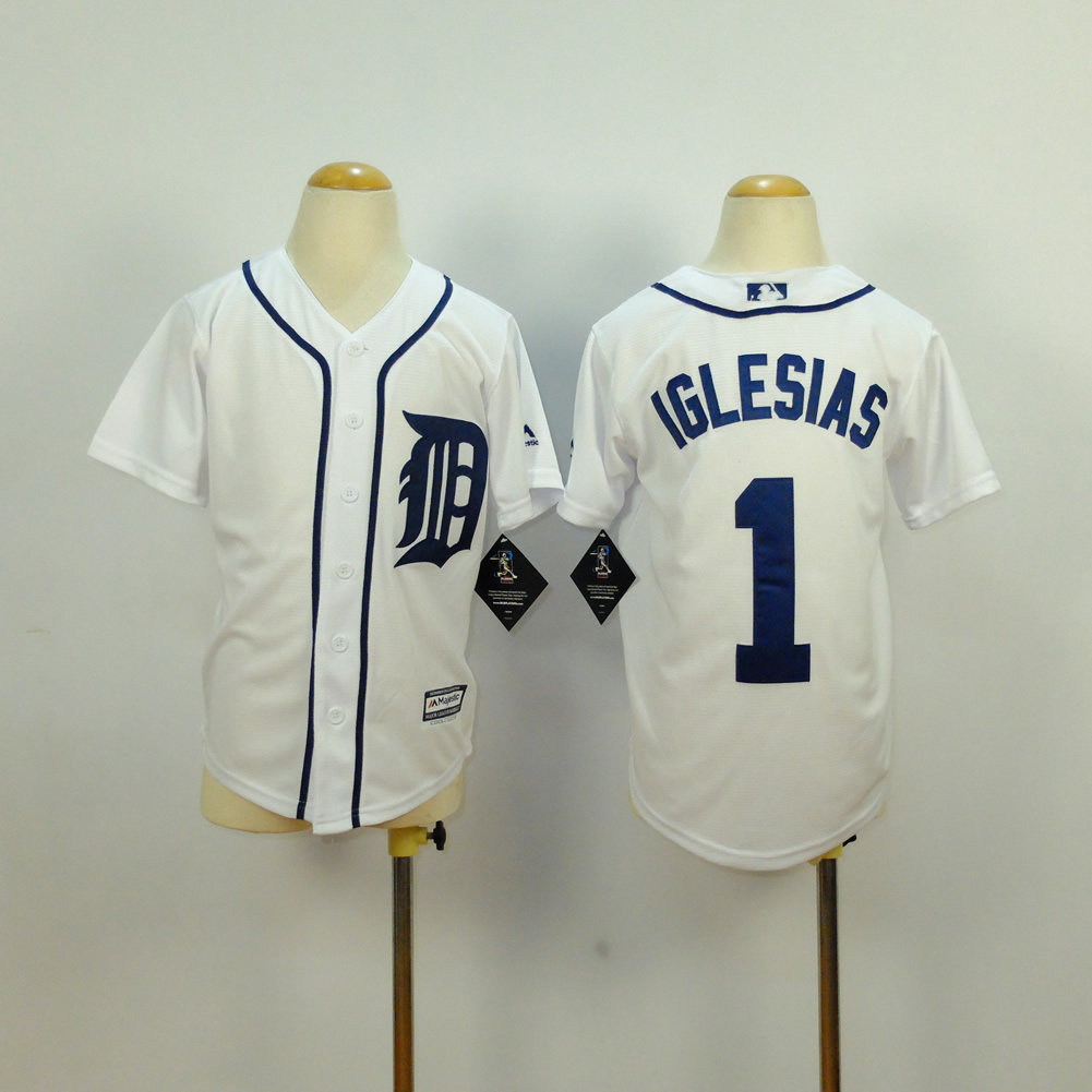 Youth Detroit Tigers 1 Iglesias White MLB Jerseys