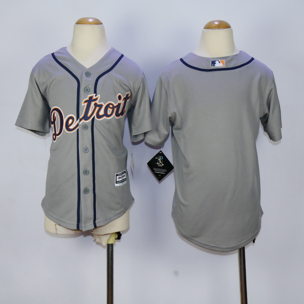 Youth Detroit Tigers Blank Grey MLB Jerseys
